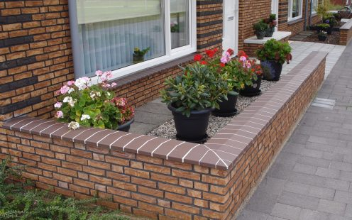 New construction window sills enclosed houses, Venlo. Terca ceramic window sills.