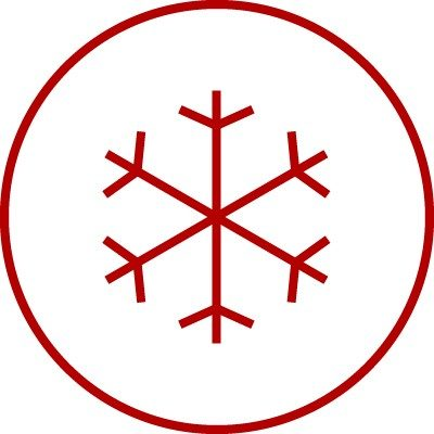 Weather icon for winter, cold, cool, frost, ice, snow