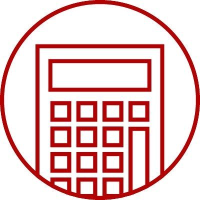 Icon with calculator tool